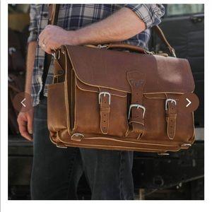 Saddleback Leather front pocket leather briefcase